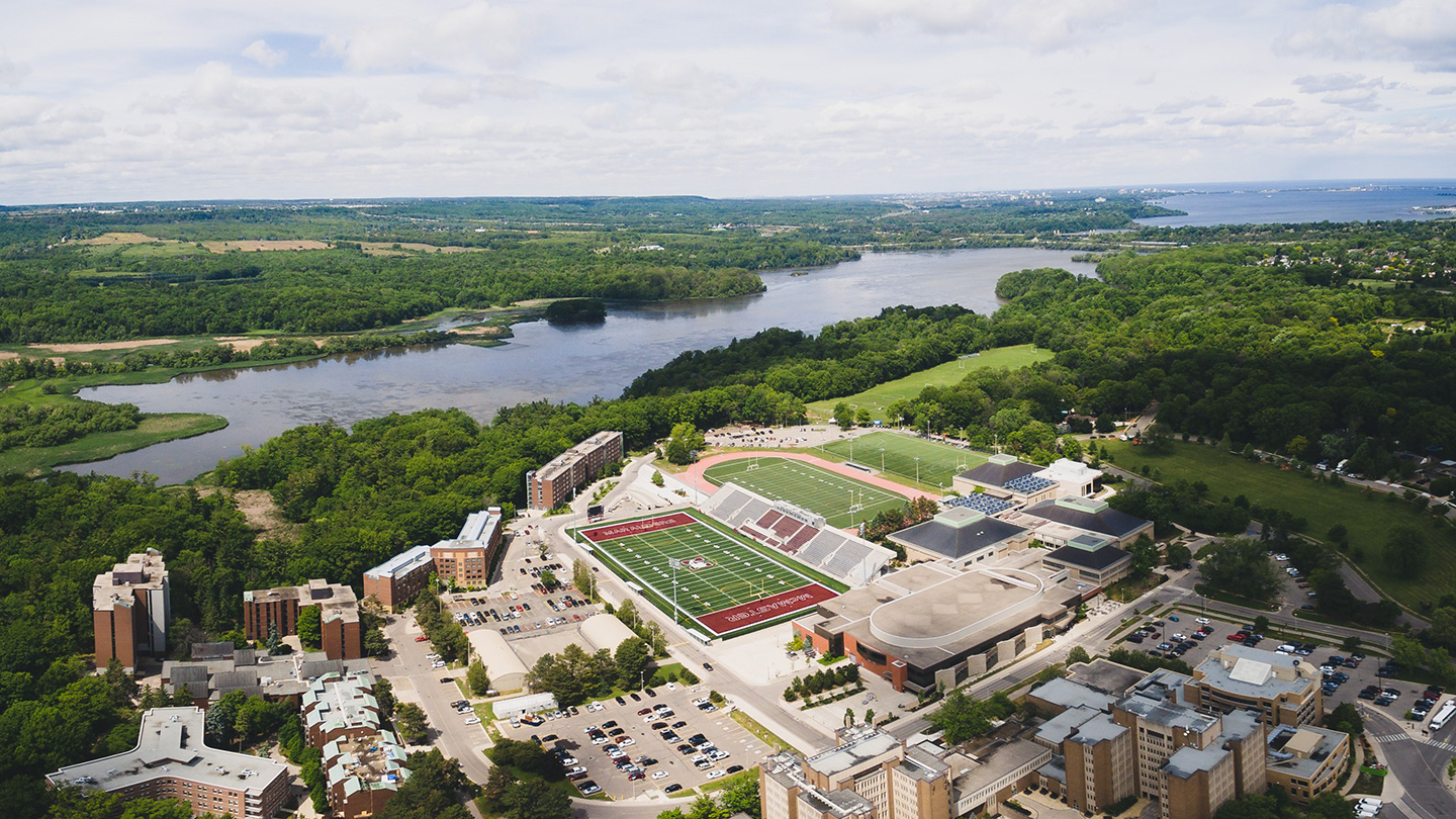 Aerial view of McMaster University Campus